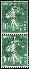 """FRANCE - 1925 - Préo 51b T.IV variété """"POINT entre F & R"""" tenant à normal **"""