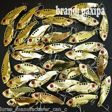 Lot Golden Metal VIB Spoon Fishing Lures Bass baits 5.5cm 3.5cm
