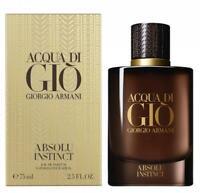 Giorgio Armani Acqua di Gio Absolu Instinct Edp Spray for Men 75ml 2.5fl.oz