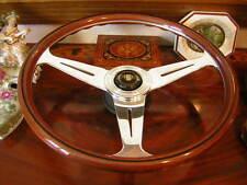 """Jaguar Wood Steering Wheel  XJS  XJ12  1988 to 1989 Pre Airbag NOS New 15""""3"""