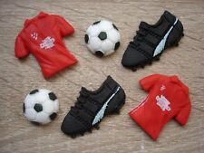 Edible football cupcake / cake toppers for Manchester United fan