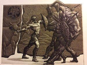 """JULIAN JORDANOV / Bulgaria , Ex Libris, """"Heracles and Geryon"""" Limited Ed. 11/100"""