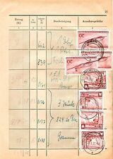 Echte Briefmarken der DDR (1955-1959) mit Mischfrankatur
