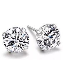 Da Uomo Ragazzi Silver Orecchini a Perno Strass Diamante Per Ragazze Donne CZ