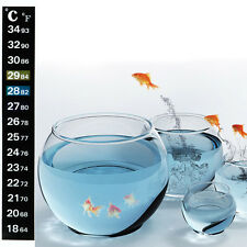 1/5/10pcs Digital Aquarium Fish Tank Thermometer Temperature Sticker Dual Scale