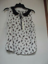 womens top size small by LC..floral,peterpan collar