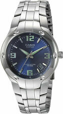 Casio EF106D-2AV, Blue Edifice Watch, Stainless Steel Silvertone Band, Date