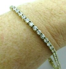 925 Gold Plated Sterling TENNIS BRACELET, Crystal Stones