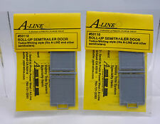 LOT OF 2 A-LINE HO SCALE 50110 ROLL UP SEMITRAILER DOOR  - DH