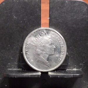 CIRCULATED,AU IN GRADE, 1994 10 CENTS BERMUDA COIN (100817)2