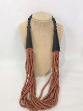 Statement Monies Gerda Lynggaard Moonies Wood 10 strands Horn necklace