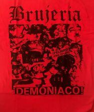 BRUJERIA cd cvr DEMONIACO NO CREA EN BRUJOS Official RED SHIRT 3XL New asesino