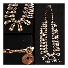 Vintage Lisner Gold Tone Glittering Rhinestone Necklace (E3)