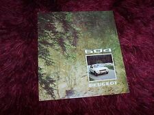 Catalogue / Brochure PEUGEOT 504 berlines 1974 //