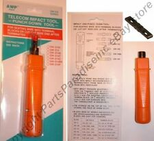 66 Blade+Telcom/Telephone/Phone Block Punch Down hand Tool w/Adjustable Impact