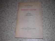 1933.lexique de la terminologie linguistique / marouzeau