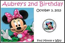 Minnie  Mouse Pink Clubhouse Birthday Scratch off Tickets