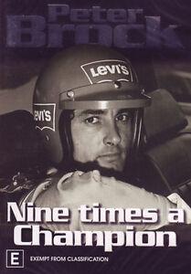 Peter Brock DVD Nine Times A Champion - Documentary Motorsport Cars