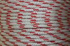 6mm x 100m Polyester Double Braid YACHT Rope Red Fleck $15 FLAT POST AUST WIDE