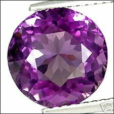 3,15 ct  Rich Purple Amethyst - Round Port. cut - VVS