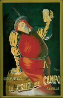 Cerveza Sevilla Blechschild Schild Blech Metall Metal Tin Sign 20 x 30 cm