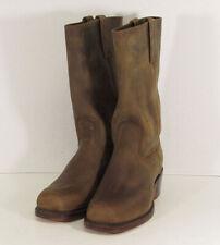 $358 Frye Womens Cavalry 12L Tall Pull On Square Toe Boots, Tan, US 10.5