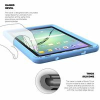 For Samsung Galaxy Tab A 9.7 Inch Tablet SM-T550 Poetic Silicone Cover Case Blue