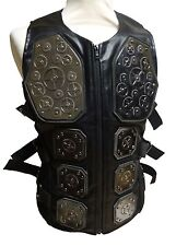 Steampunk industrial SDL larp amour Waistcoat with metal cogs size L chest 44