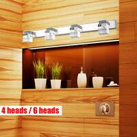 LED Crystal Mirror Light Modern Bathroom Front Wall Lamp Fixture Vanity Lights