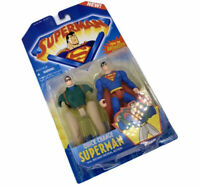 Superman Quick Change Figure Animated Show 1996 Kenner Clark Kent Vintage MOC