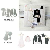 Wedding Dress Metal Cutting Dies Stencil Scrapbooking Embossing Paper Card Craft