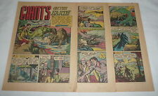 1949 six page cartoon story ~ Dinosaurs Giants On The Earth