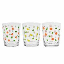 3er Soft Drink Gläserset Joy 250ml mit Motiv Glas 3er Pack Neu