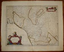 stampa antica Lucca Toscana mappa janssonius 1630 carta geografica