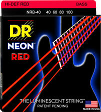 DR Hi-Def Bass Neon-Set di corde Red 040-100