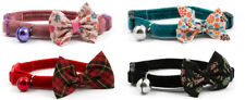 Ancol Velvet Vintage Bow Safety Cat Collar Quick Release
