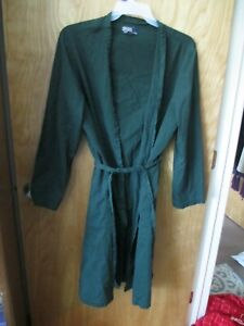 MEN'S POLO BY RALPH LAUREN SMALL MEDIUM ROBE WITH TIE GREEN YEAR ROUND PAJAMAS