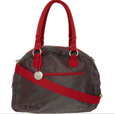 Lassig gold label bowler bag red and grey nappy changing designer baby bag