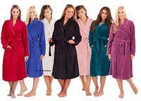 Luxury Ladies Girls Soft Full Length Collar Fleece Bath Robe Dressing Gown Coat