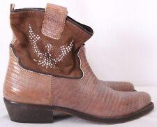 Fruit Italy Faux Lizard Cowboy Western Ankle Boots Women's EURO 40 (US 9.5)