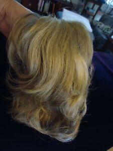 "6"" Clip on Hair Piece - Wig -Light Ash Blonde"