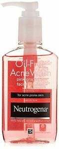 Neutrogena Oil Free Acne Wash Grapefruit Facial Cleanser, 175ml Fast Shipping