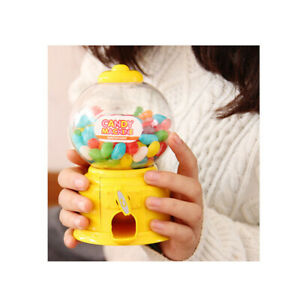 Mini Gumball Dispenser Machine Toy With Bubble Gum Party Bag Coin Operated