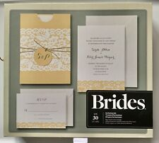 Brides Rustic Chic Wedding 30 Invitations,Tags, Twine, Response cards, Envelopes