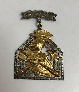 Vintage Sterling Silver Medal Knights of Pythias Darius A Hart F.C.B Syracuse
