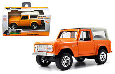JADA 1:32 W/B JUST TRUCKS - 1973 FORD BRONCO Diecast Car Orange