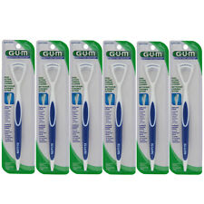 6 Pack GUM Dual-Action Tongue Cleaner, Colors May Vary
