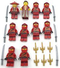 LEGO 2 NEW RED AND BLACK NINJA KAI LEGACY NINJAGO SAMURAI MINIFIGURES WEAPONS