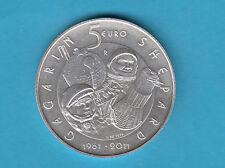 SAN MARINO 5 EURO 1961  2011 SPAZIO GAGARIN SHEPARD FDC -