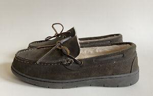Clarks Kohen Walk Men's Brown Leather Slip On Slippers Hard Sole Size 9 M